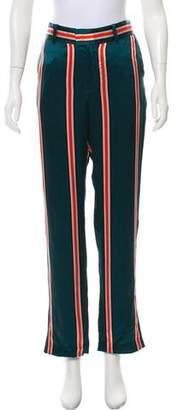 Equipment Silk Striped Straight-Leg Pants