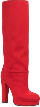 Gucci Ribbed Fabric Platform Boots
