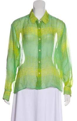 Kelly Wearstler Silk Button-Up Top