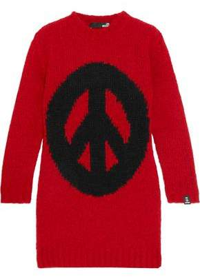 Love Moschino Bubble Intarsia-Knit Mini Dress