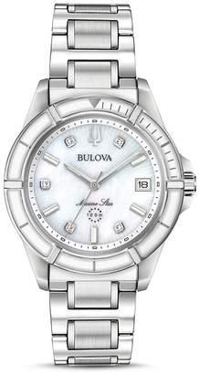 Bulova Marine Star Link Bracelet Watch, 34mm