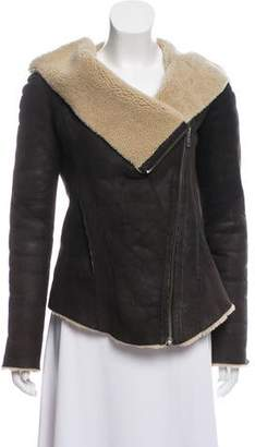 Helmut Lang Hooded Shearling Jacket