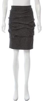 Yigal Azrouel Metallic Knee-Length Skirt