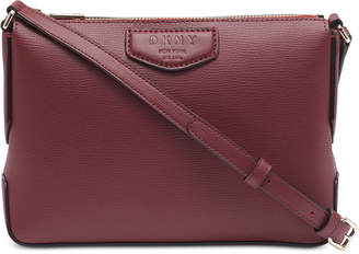 DKNY Sullivan Leather Top-Zip Crossbody