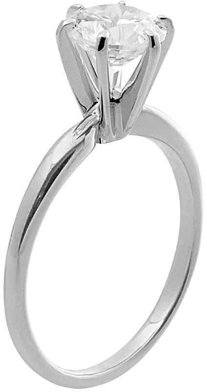 Swarovski Renaissance Collection Solitaire Engagement Ring in 14k White Gold - Made with Zirconia