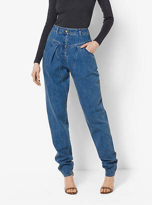 Michael Kors High-Waisted Tapered Jeans