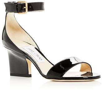 Jimmy Choo Women's Edina 65 Patent Leather High-Heel Sandals