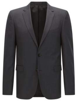 BOSS Hugo Italian Wool Sport Coat, Extra Slim Fit Ryan CYL 38S Dark Grey