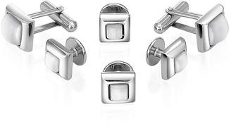 Forzieri Studs - Silver-Plated Cufflink Gift Set