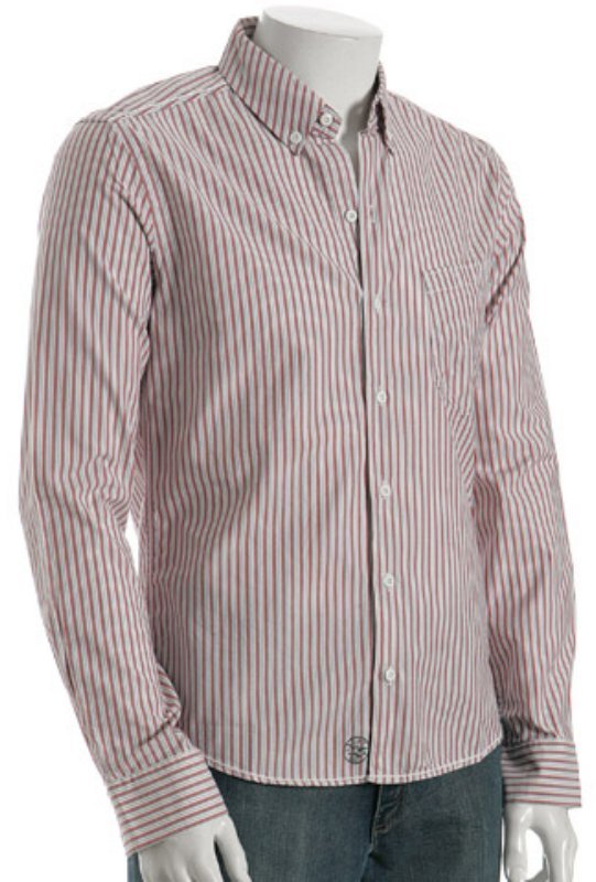 Cockpit red striped 'Air Space' button down shirt