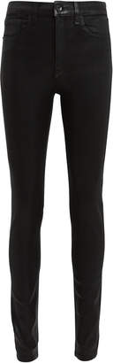 Rag & Bone Black Coated Skinny Jeans