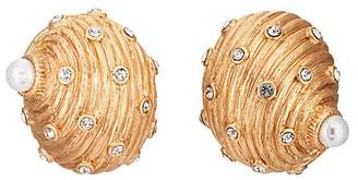 Kenneth Jay Lane WOMEN'S SEASHELL STUD EARRINGS