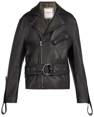 Wooyoungmi Belted leather jacket