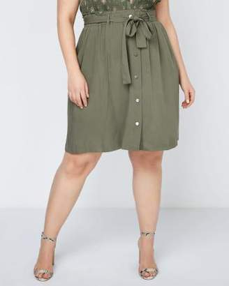 Penningtons Belted Skirt with Buttons - In Every Story