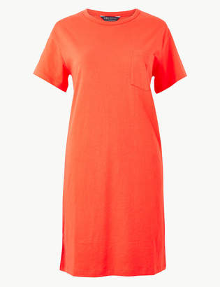 Marks and Spencer Pure Cotton Patch Pocket T-Shirt Dress