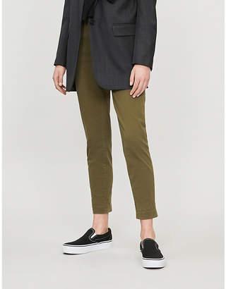 J Brand Josie turn-up high-rise cotton-blend jeans