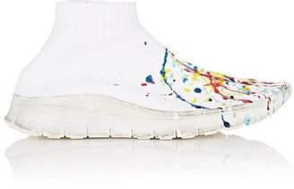 Maison Margiela Women's Paint-Splatter Knit Sneakers - White
