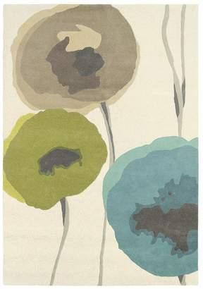 Sanderson Unitex International Poppies Teal/olive 45701 Rug