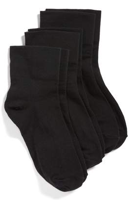 Hue 3-Pack Cotton Blend Crew Socks