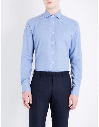 Smyth & Gibson Albany brushed cotton-twill shirt