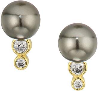 Cole Haan Pearl Stud Earrings with Cubic Zirconia Stone Accents Earring