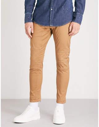 DSQUARED2 Asymmetric stretch-twill skinny biker jeans