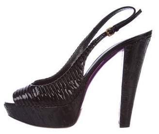 Miu Miu Patent Leather Platform Sandals
