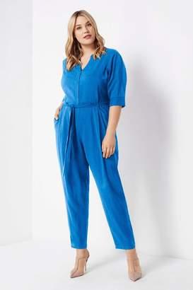 Live Unlimited Womens Blue Leola Jumpsuit - Blue