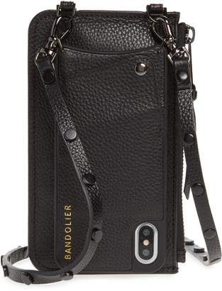 BANDOLIER Jane Leather iPhone X/Xs Crossbody Case & Pouch Set