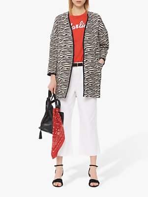 Gerard Darel Lily Tiger Print Coat, White