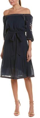 Velvet by Graham & Spencer Mona Embroidered A-Line Dress