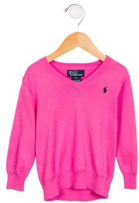 Polo Ralph Lauren Girls' V-Neck Long Sleeve Sweater w/ Tags