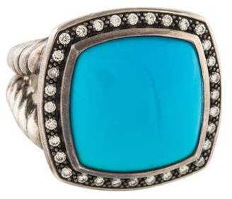 David Yurman Turquoise & Diamond Moonlight Ring