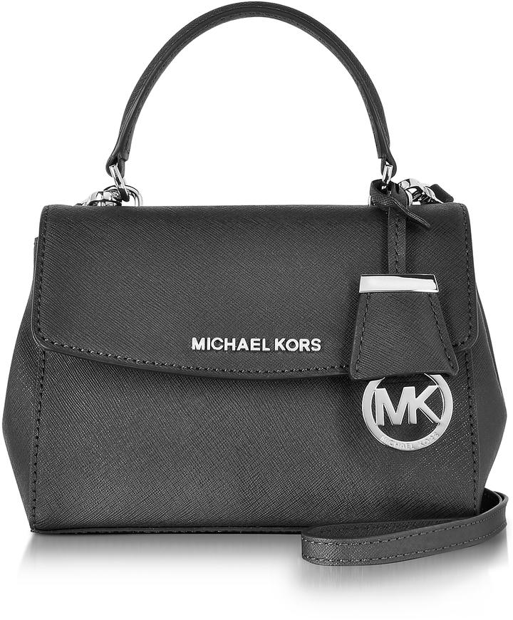MICHAEL Michael KorsMichael Kors Ava Black Saffiano Leather XS Crossbody Bag