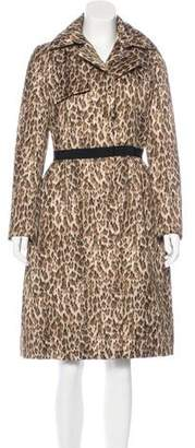 Giambattista Valli Leopard Print Long Coat