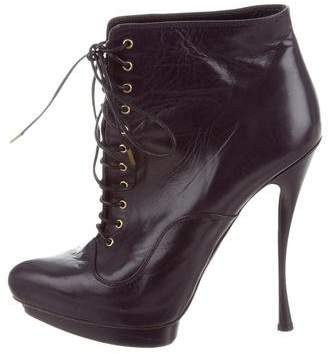 Alexander McQueen Lace-Up Platform Booties