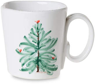Vietri Lastra Holiday Mug - White