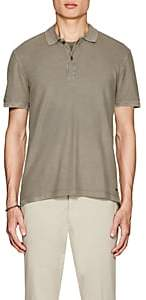 ATM Anthony Thomas Melillo MEN'S FADED COTTON POLO SHIRT - OLIVE SIZE M