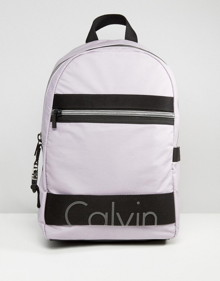 Calvin Klein Exclusive Re-Issue Coated Jersey Backpack