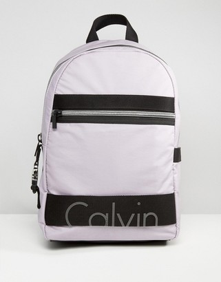 Calvin Klein Exclusive Re-Issue Coated Jersey Backpack $160 thestylecure.com