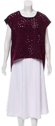 Alberto Makali Sleeveless Laser Cut Top