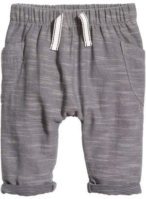 H&M Cotton Pull-on Pants - Gray