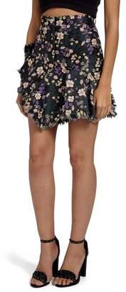 Missguided Jacquard Floral Miniskirt