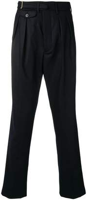 Lardini buckle fastening trousers