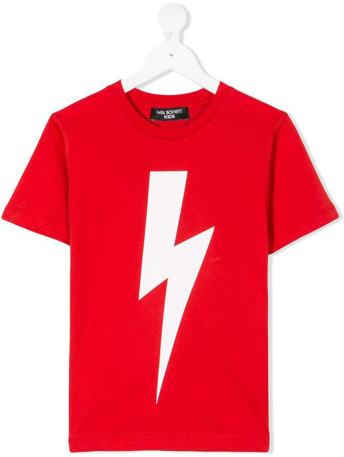 Neil Barrett Kids lightning bolt T-shirt