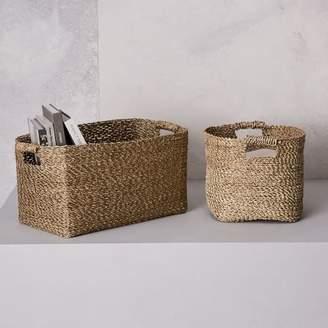 west elm Metallic Woven Storage Baskets
