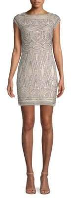 Aidan Mattox Beaded Cap Sleeve Dress
