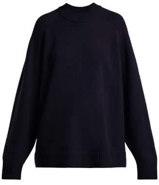 Tibi Oversized Cashmere Sweater - Womens - Navy
