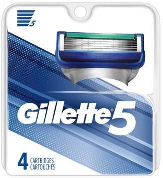 Gillette 5 Blade Men's Razor Blade Refills - 4ct