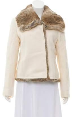 Theory Fur Trim Wool Jacket